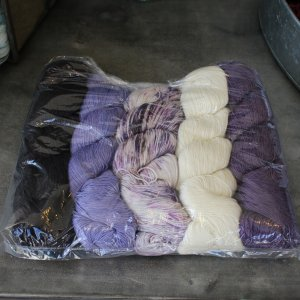 Lorna's Laces Joji Mystery Wrap MKAL Kit Yarn - Purples, Grey