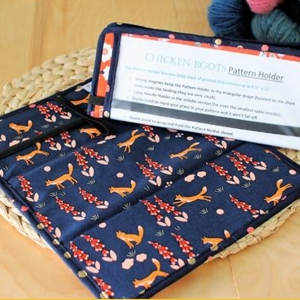 Chicken Boots Pattern Holder - Foxglove