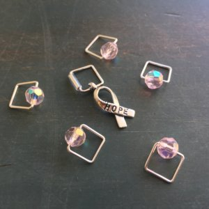 Spark Exclusive JBW Stitch Markers - '17 October - Ta Tas