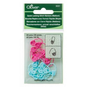 Clover Stitch Markers - Quick Locking Stitch Markers (Medium)