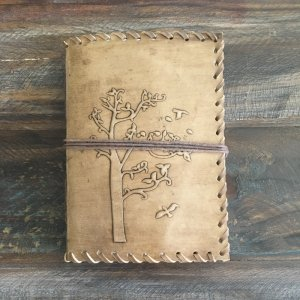 Jimmy Beans Wool Jimmy's Journey Marketplace - Leather Journal - Brown - Tree