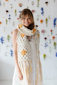 Knit Collage Patterns - Sunshine Cloud Scarf - PDF DOWNLOAD Pattern