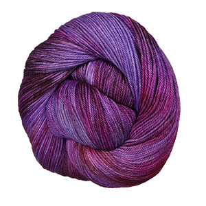 MJ Yarns Opulent Fingering Yarn - Purple Dragon