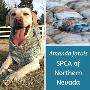 Lorna's Laces The Year of Giving - '18 January - Snow Dog Shawl/SPCA