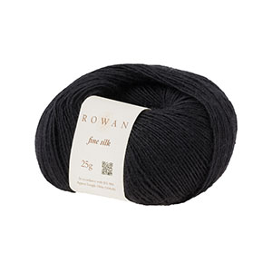 Rowan Selects Fine Silk Yarn - 0110 - Black