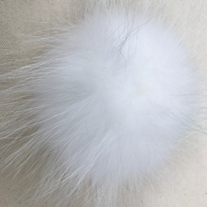 "Big Bad Wool Pompoms - Raccoon - White (6"")"