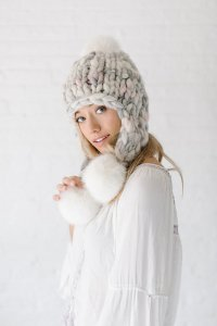 Knit Collage Patterns - Pom Bomb Hat - PDF DOWNLOAD Pattern