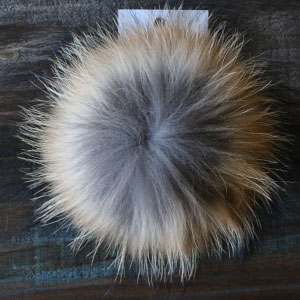 "Big Bad Wool Pompoms - Raccoon - Foxy (6"")"
