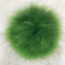 "Big Bad Wool Pompoms - Raccoon - Green (6"")"