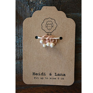 Heidi and Lana Stitch Markers - Small Rose - Linen