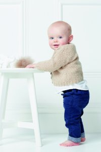 Rowan Baby Knits Collection Patterns - Textured Cardigan - PDF DOWNLOAD Pattern