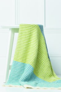 Rowan Baby Knits Collection Patterns - Striped Blanket - PDF DOWNLOAD Pattern