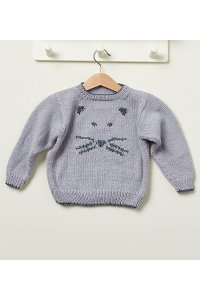 Rowan Baby Knits Collection Patterns - Mouse Sweater - PDF DOWNLOAD Pattern