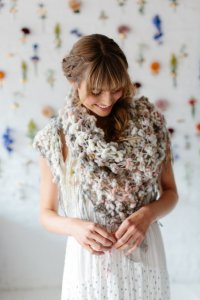 Knit Collage Patterns - The Color Dipped Twinkle Shawl - PDF DOWNLOAD Pattern