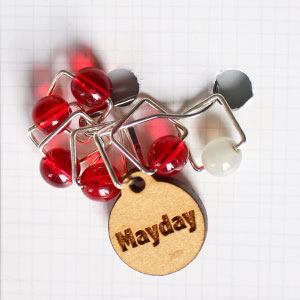 Spark Exclusive JBW Stitch Markers - '18 April - Mayday