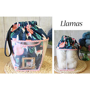 Chicken Boots Double Double Project Bag - Llama