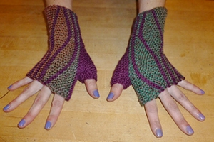 MarinJa Knits Patterns - Leafy Mitts - PDF DOWNLOAD Pattern