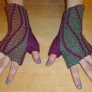 MarinJa Knits Patterns - Leafy Mitts