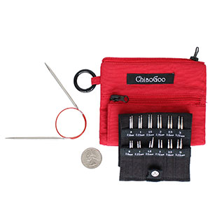 "ChiaoGoo TWIST Red Lace Interchangeable Sets Needles - 2""/3"" Shorties - Mini (US 0 - US 3) Needles"