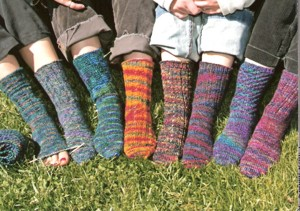 Mountain Colors Patterns - Knit Night Socks Pattern