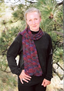 Mountain Colors Patterns - Ribbon Rib Scarf Pattern