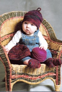 Mountain Colors Patterns - Baby Hat & Socks Pattern