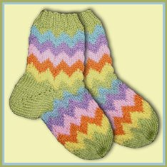 Knitwhits KnitWhit Kits - Wallis Tutti Frutti Socks For Tots