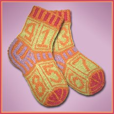 Knitwhits KnitWhit Kits - Crunch Fruit Loops Socks for Tots