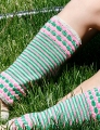 Koigu KPM Bubbles and Stripes Legwarmers