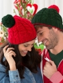 Red Heart With Love Christmas Gift Beanies