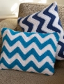 Red Heart With Love Chevron Pillow  Kit