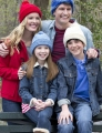 Red Heart With Love Family Hats