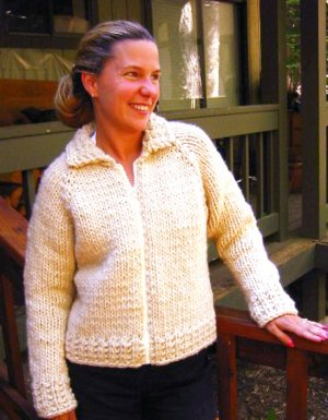 Knitting Pure and Simple Women's Cardigan Patterns - 0234 - Weekend Neckdown Jacket Pattern
