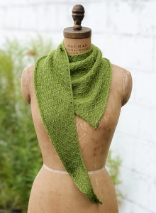 Shubui Knits Staccato and Silk Cloud Chlorochrous Curl Kit - Scarf and Shawls