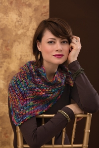 Koigu KPPPM Patch of Berries Neckerchief Kit - Scarf and Shawls