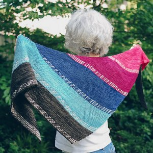 Nancy Whitman Patterns - Finley Breese Morse Code Shawl - PDF DOWNLOAD Pattern