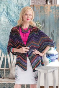 Noro Patterns - 15 Chevron Jacket - PDF DOWNLOAD Pattern