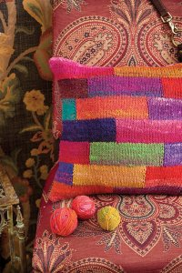 Noro Patterns - 21 Patchwork Pillow - PDF DOWNLOAD Pattern