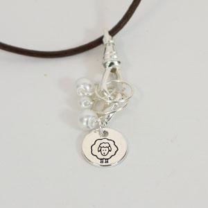 Heidi and Lana Stitch Marker Necklace - Silver Lace