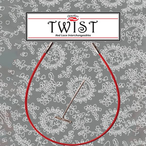 "ChiaoGoo TWIST Red Cables Needles - 05""/13cm [M] Needles"