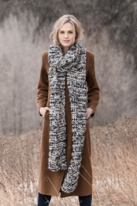 Blue Sky Fibers Traveler's Series Patterns - Big Falls Scarf - PDF DOWNLOAD Pattern