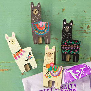 Natural Life Llive Happy Collection - Llama Magnet Happy Clip