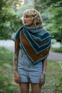 Andrea Mowry Drea Renee Knits Patterns - Golden Hour Shawl Pattern