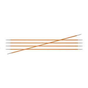 "Knitter's Pride Zing Double Pointed Needles - US 1 (2.25mm) - 6"" Amber Needles"