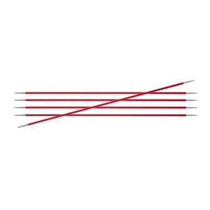 "Knitter's Pride Zing Double Pointed Needles - US 1.5 (2.5mm) - 6"" Garnet Needles"