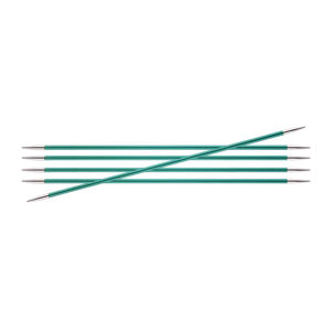 "Knitter's Pride Zing Double Pointed Needles - US 3 (3.25mm) - 6"" Emerald Needles"