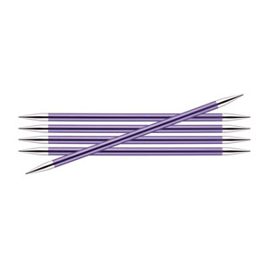 "Knitter's Pride Zing Double Pointed Needles - US 10.75 (7.0mm) - 8"" Amethyst Needles"