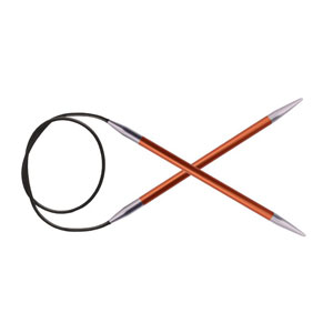 "Knitter's Pride Zing Fixed Circular Needles - US 2 (2.75mm) - 47"" Carnelian Needles"