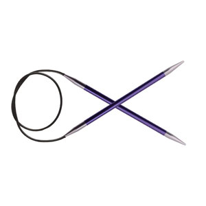 "Knitter's Pride Zing Fixed Circular Needles - US 5 (3.75mm) - 47"" Amethyst Needles"