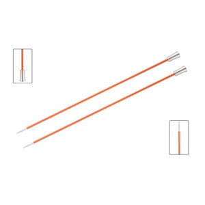 "Knitter's Pride Zing Single Pointed Needles - US 2 (2.75mm) - 10"" Carnelian Needles"